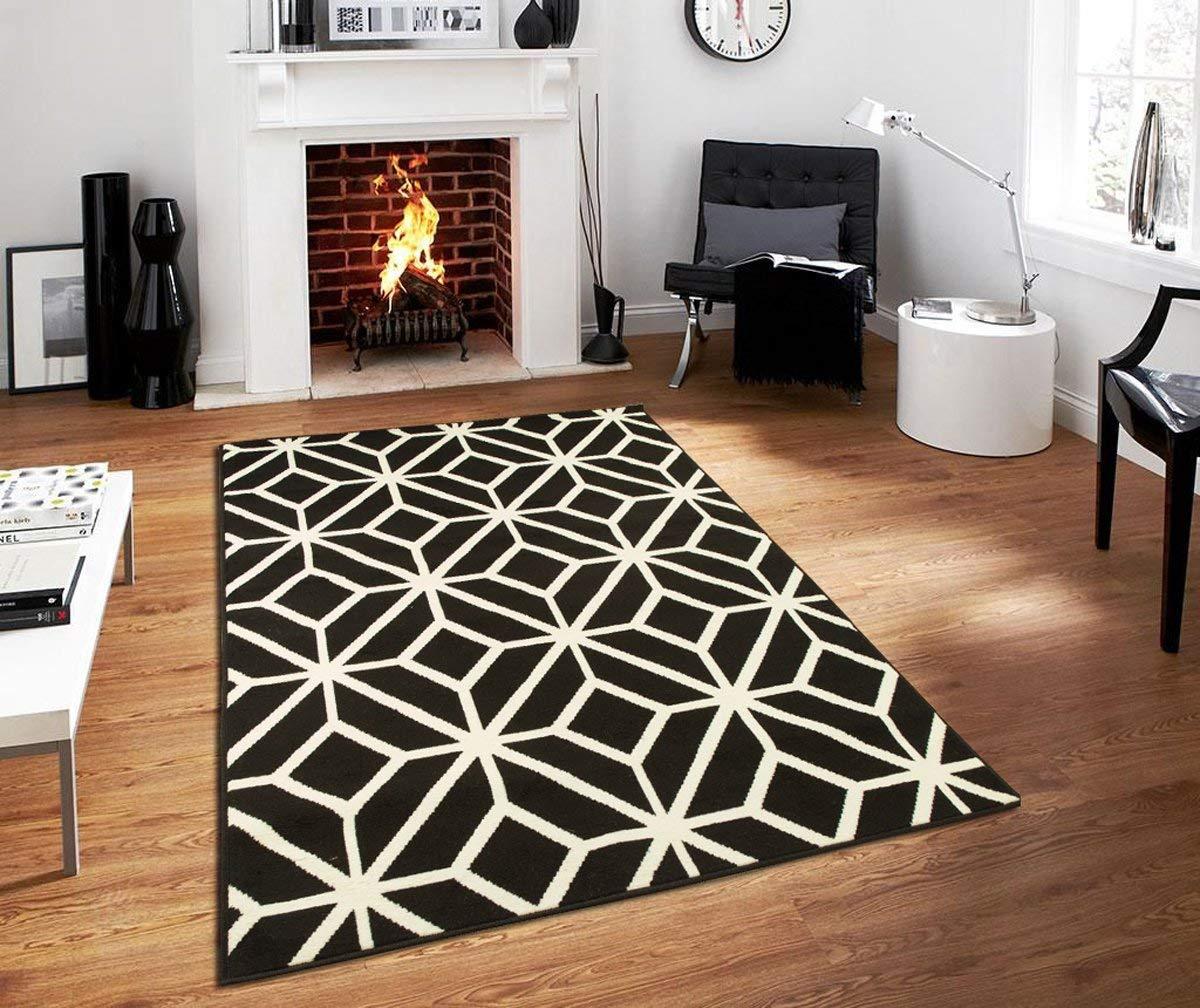 black and white carpets amazon.com: modern carpets for living room modern carpets 5x7 black and OZSPGEL