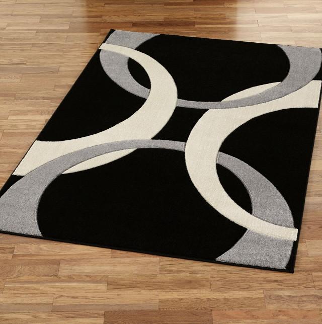 Black and white carpets Black and white area carpets, gray WAEPGPM