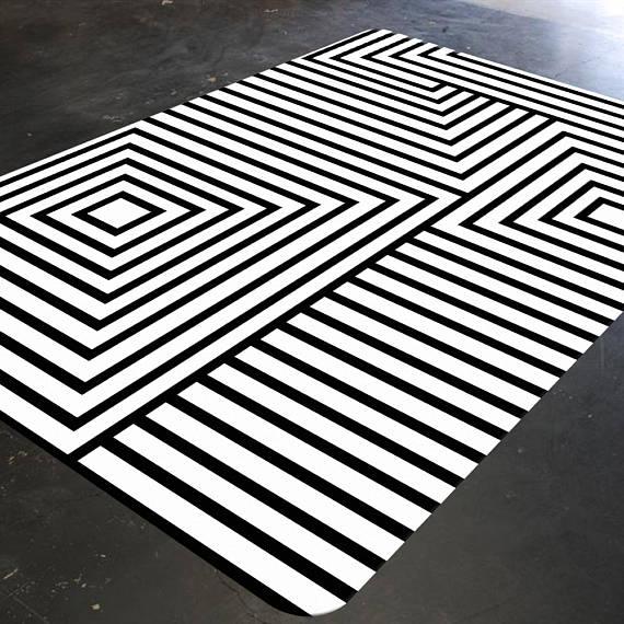 Black and white carpets Black and white carpet Geometric carpet Mid Century Modern carpet OGXTEXX