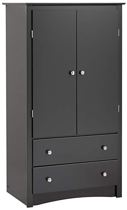 black cabinet black Sonoma 2-door cabinet SDBFLKH