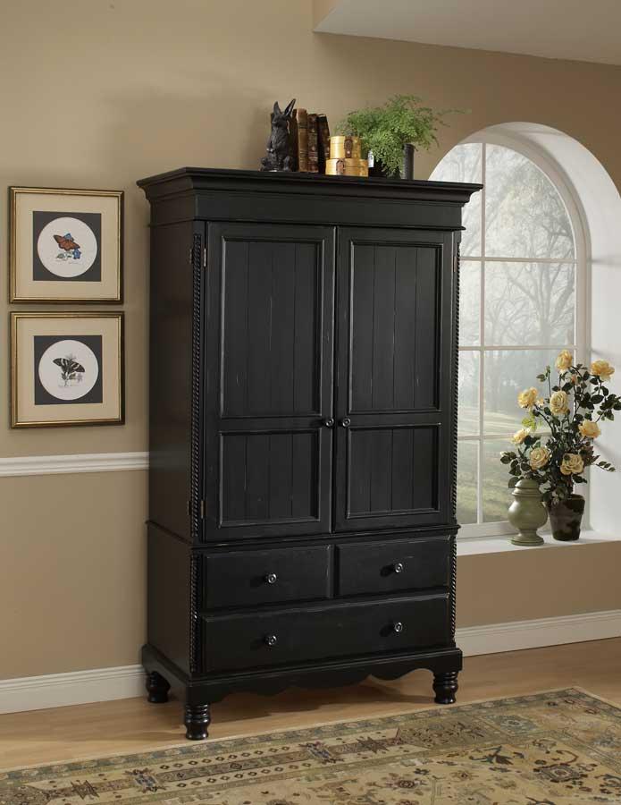 black cupboard Hillsdale Wilshire cupboard - rubbed black MTXDYPE