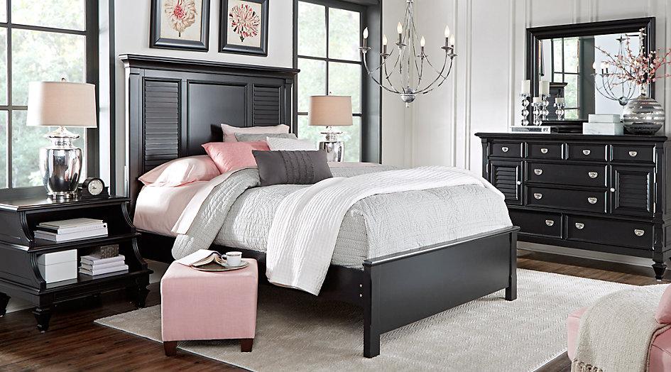 Bedroom furniture sets black Belmar black 5-piece queen bedroom - Queen bedroom sets colors BXCWUZC