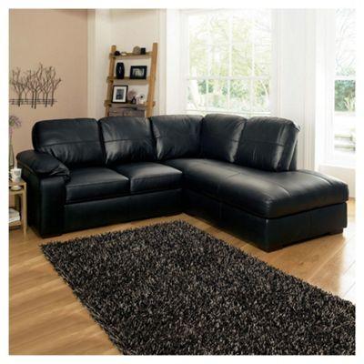 black corner sofa ashmore leather corner sofa, black right WDFHFSX