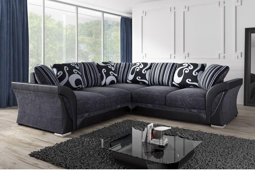 black corner sofa black & gray corner sofa made of fabric |  Sofa direct YKTDMEQ
