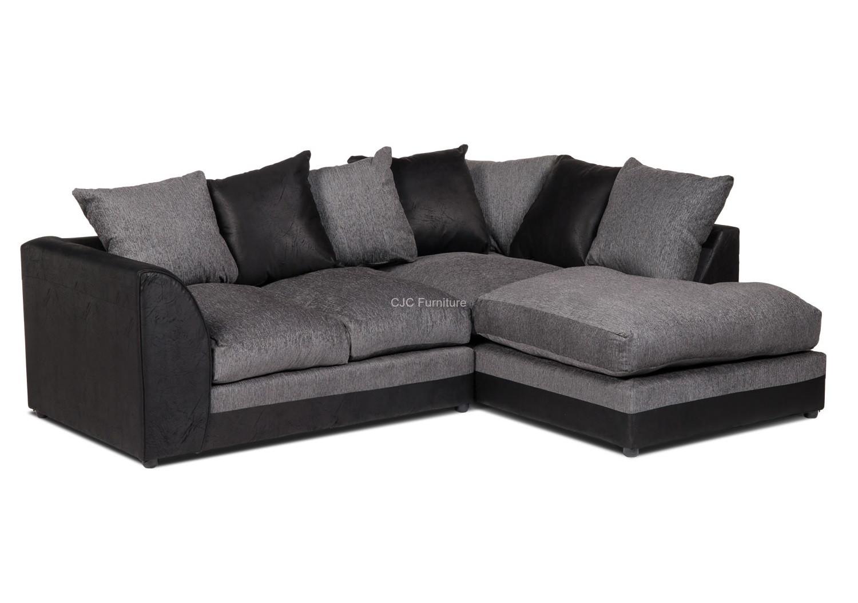 black corner sofa Dylan corner sofa right - black frame ONIBYUZ