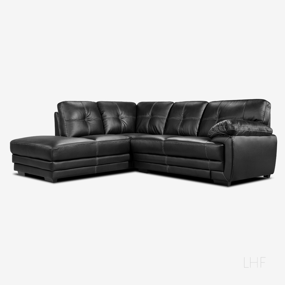 black corner sofa lazio black leather corner sofa left NTLUOKA