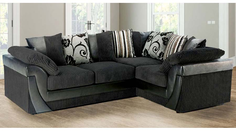black corner sofa Selina black corner rh JAZFLBQ