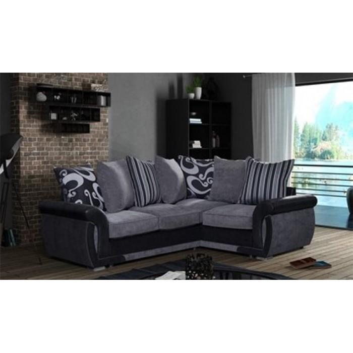 black corner sofa Shannon gray / black 2c1 corner sofa COXZFZK