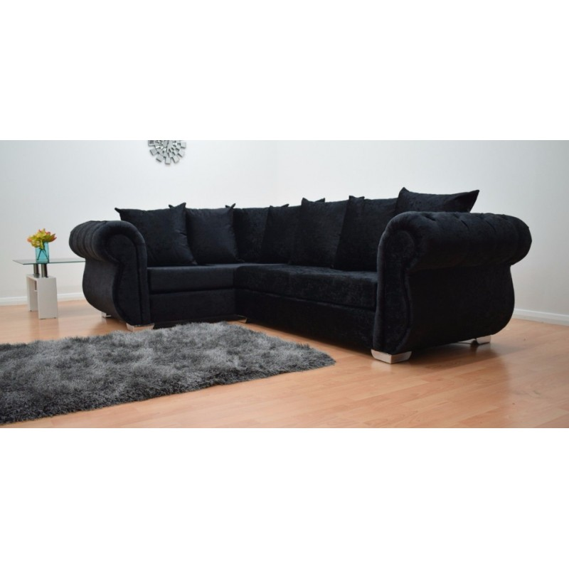 black corner sofa windsor black corner sofa made of crushed velvet SMDEZOL