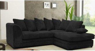 black corner sofa XXVEMPE