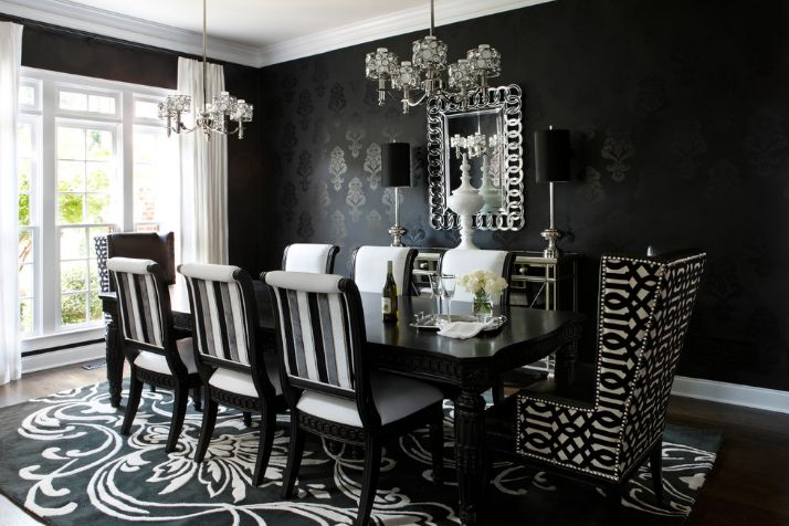 black dining table 13 reasons why black dining tables will fit in any interior LZYJKDK