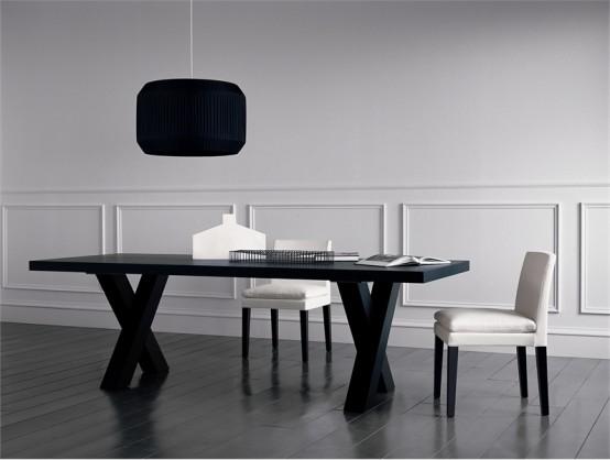 black dining table - andrea by casamilano CZYMUJV