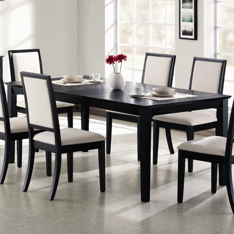 black dining table coaster Lexton rectangular dining table - item number: 101561 SUHMATC