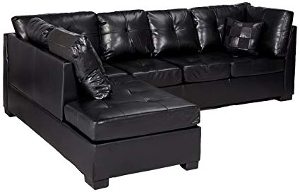 black leather sofa modern black leather share sofa left chaise longue by saucer XJGXYZC