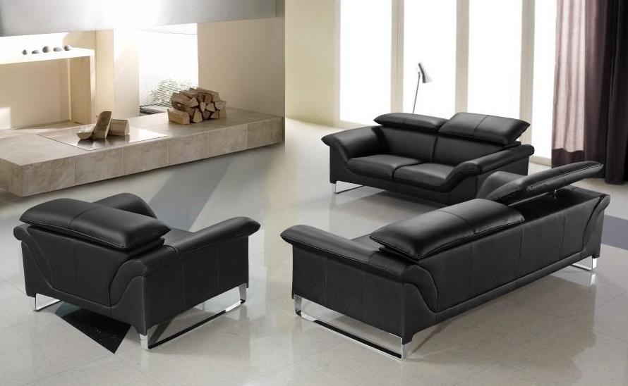 black leather sofa real and Italian leather, modern designer sofas NCXFKLU