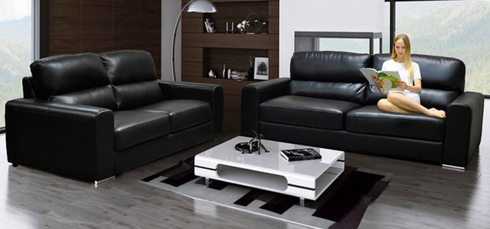 black leather sofa marine leather ... HFNTXGS