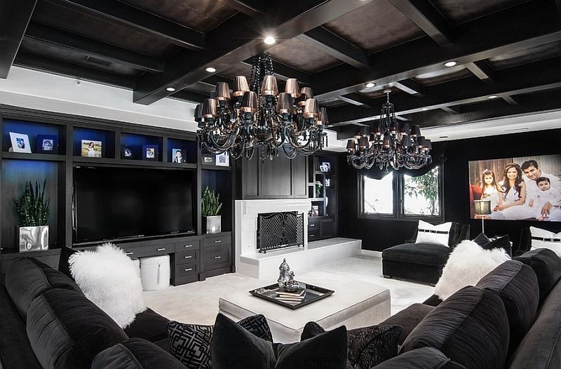 Black living room ideas - savillefurnitu