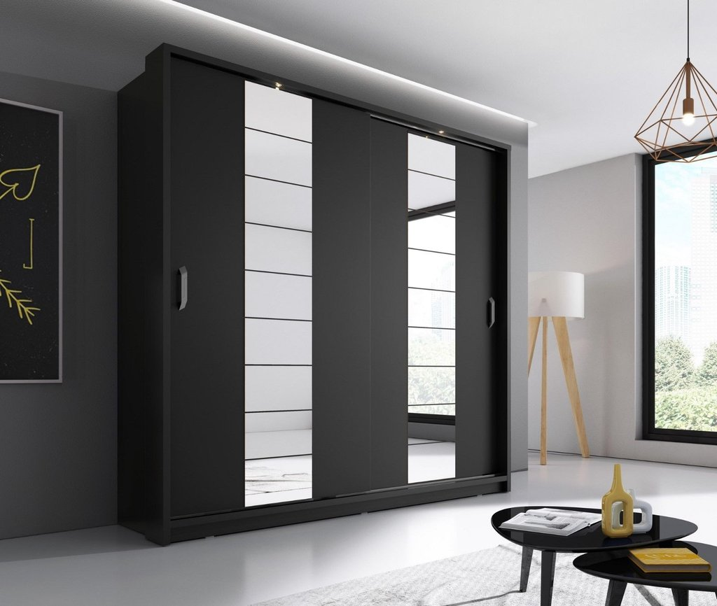 black wardrobe arti 14 black 2 sliding door wardrobe 220cm QHPPLOP