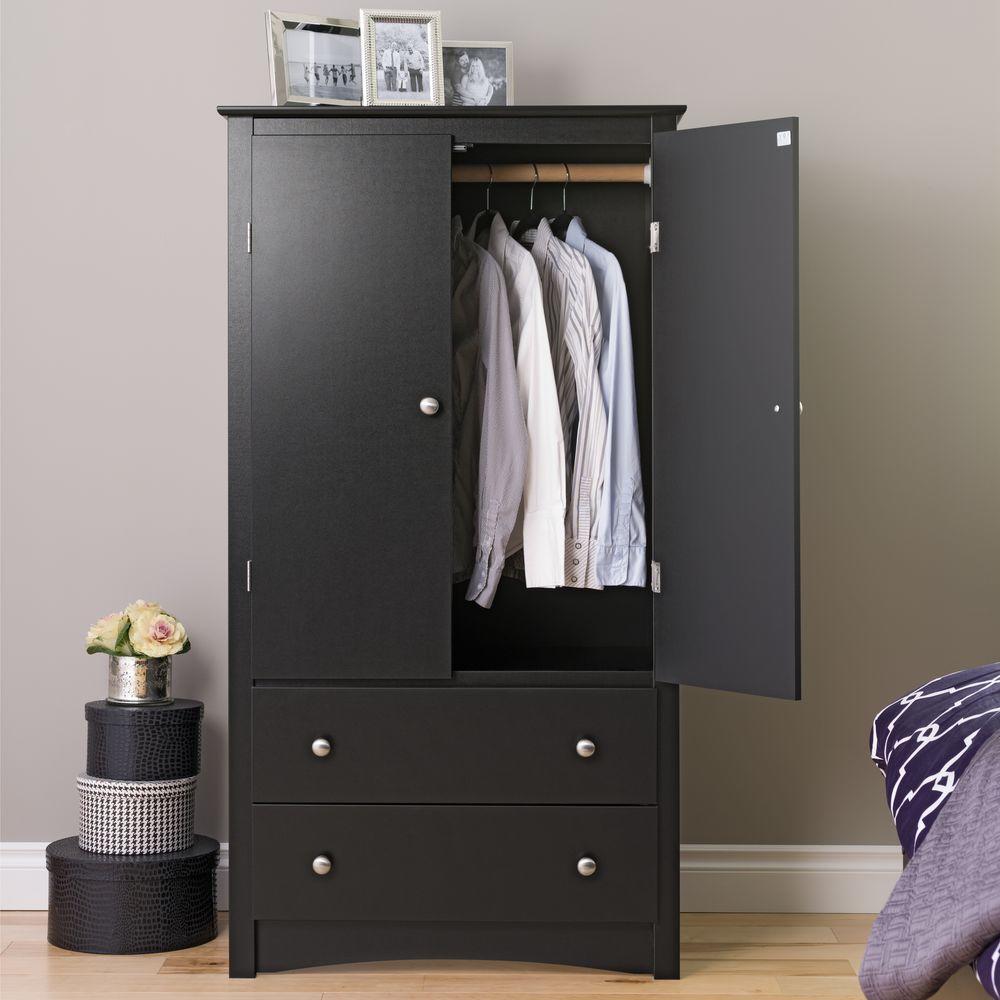 black wardrobe Prepac Sonoma black wardrobe BDQBCES