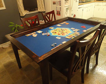 Board game table with removable topper HBROYFN