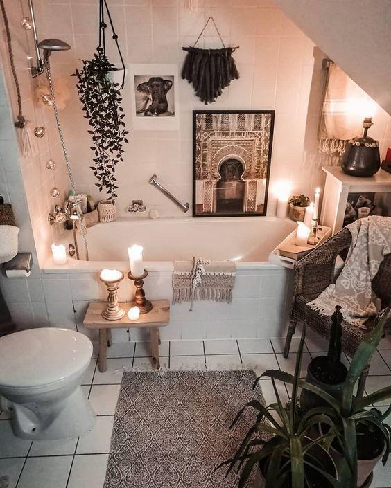Bohemian bathroom ideas interior design, interior design ideas ...