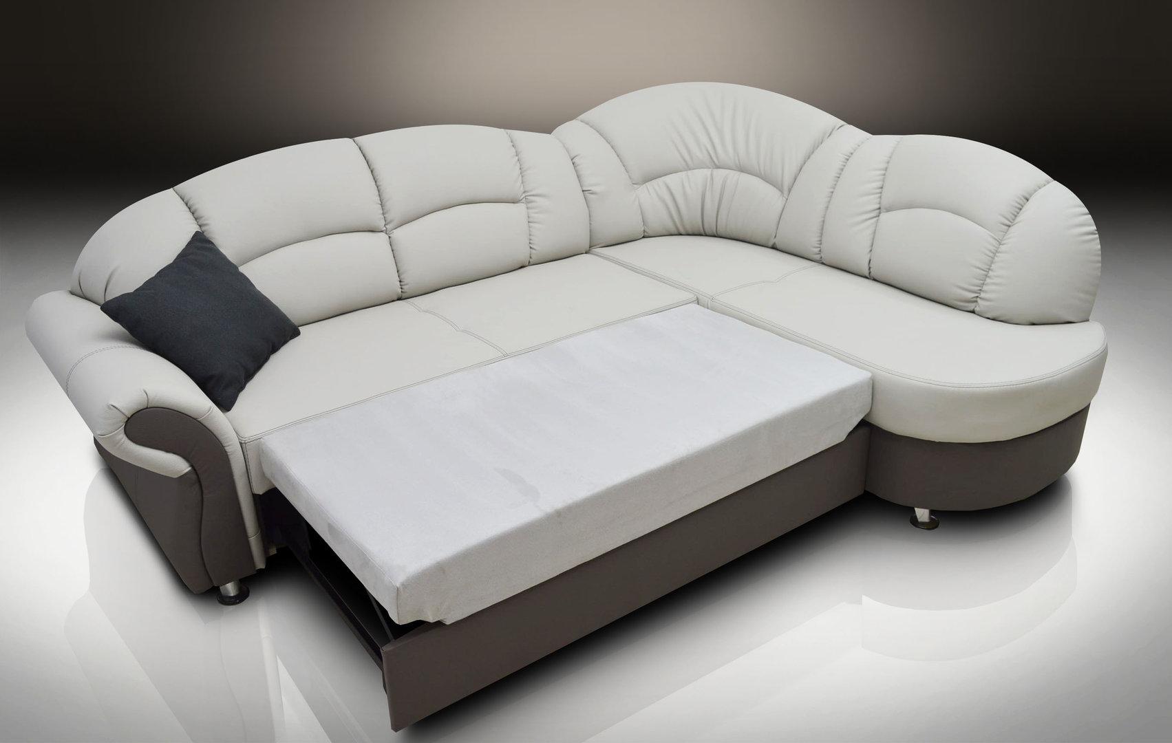 Corner sofa made of bonded leather romero gray / elephant GLVBCBH