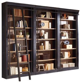 Bookshelf alcott 3-part bookshelf wall - transition - bookshelves - by martin RQGMFKA