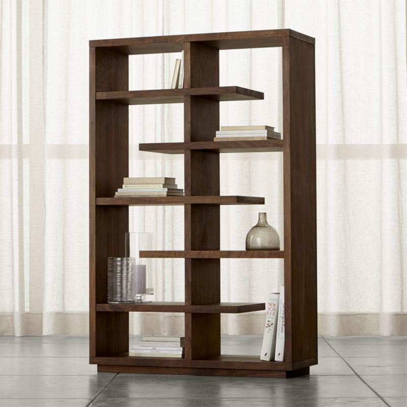 Bookcase Elevated Walnut 68 DXLREVG