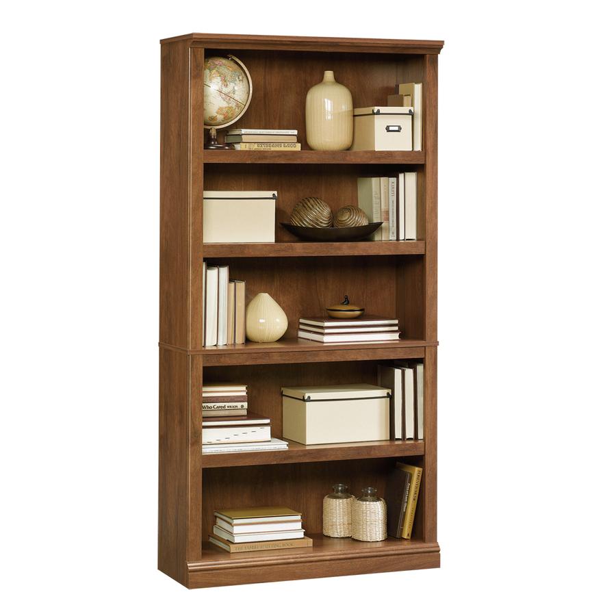 Bookcase Sauder oak oiled 5-compartment bookcase QFLYYTF