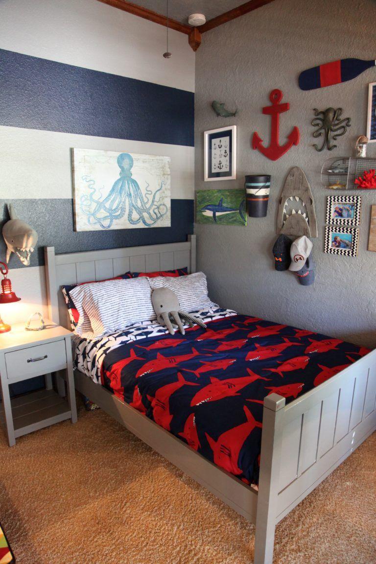 Boys Bedroom Shark Themed Boyu0027s Room OGZTDPS