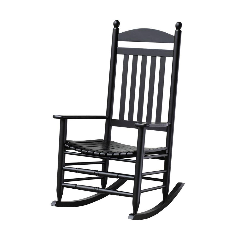 Bradley patio rocking chair with black slats PADPHME