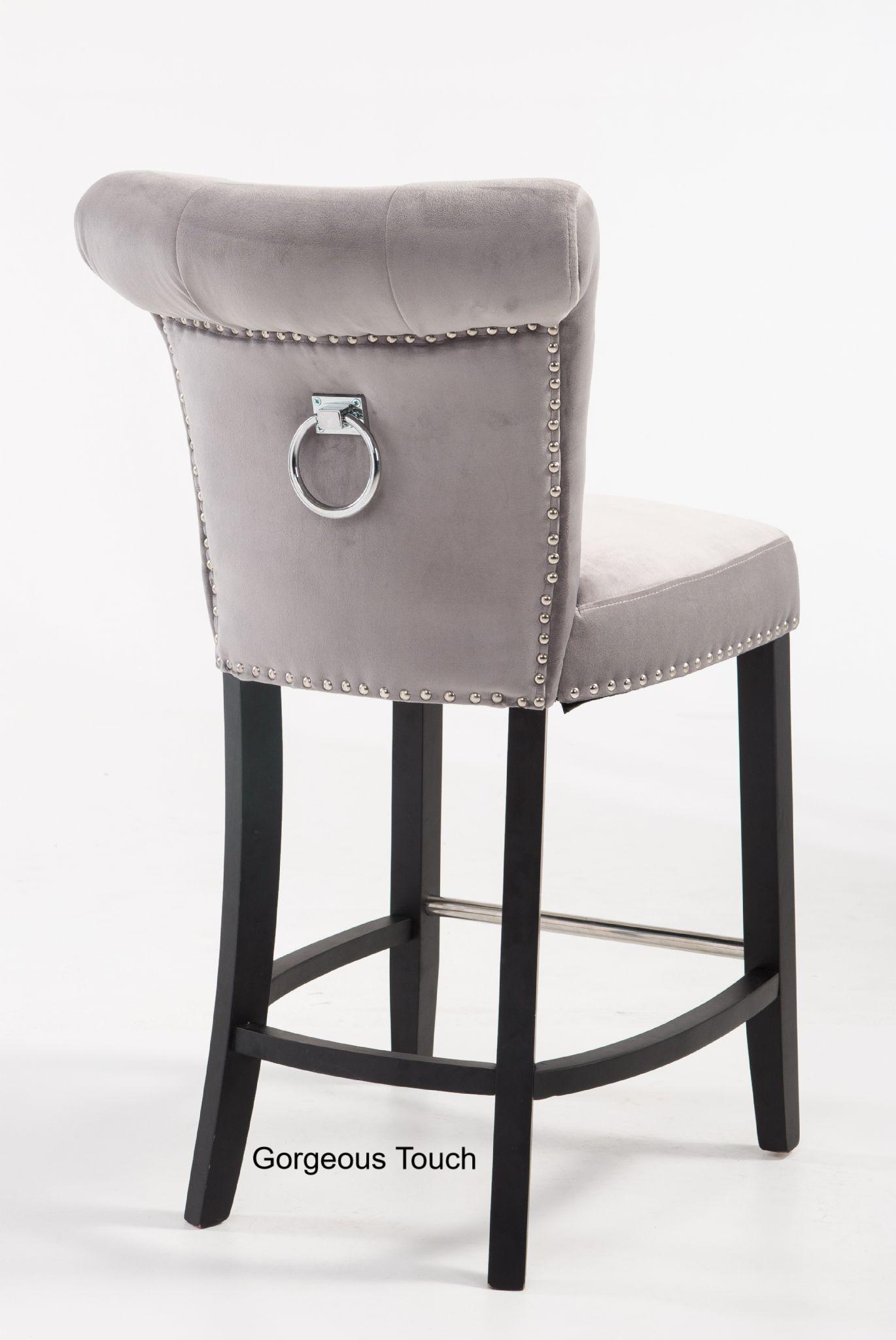 Breakfast bar stool gray bar stool - gray velvet breakfast bar stool XDCJBWN