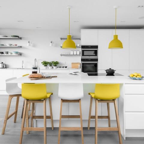 Breakfast Bar Stools Kitchen Breakfast Table Designs Drift Oak and Yellow Bar Stools in Breakfast QWNWTGU