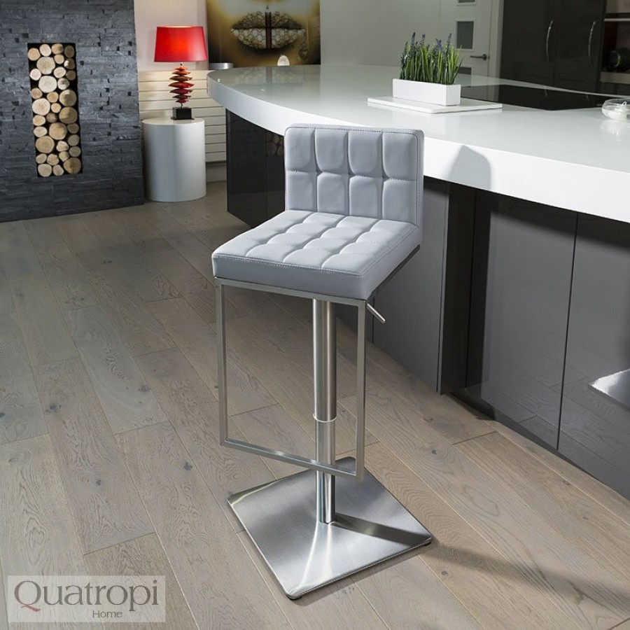 Breakfast bar stool luxury gray kitchen breakfast bar stool / seat adjustable in height ob4158 ... PNNGBYF