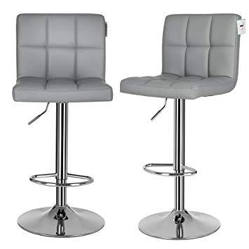 Breakfast stool songmics 2 x bar stool chairs with large seats Breakfast stool for JCZGOFW