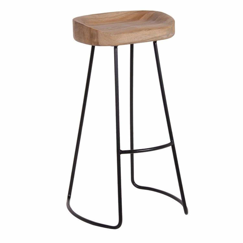 Breakfast bar stool weathered oak with metal legs Breakfast bar stool for the kitchen XDZJOOB