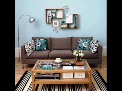 Living room ideas in turquoise and brown - YouTu