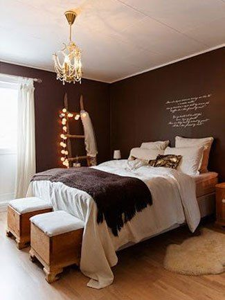 The nest    Brown bedroom walls, brown bedroom, warm bedroom