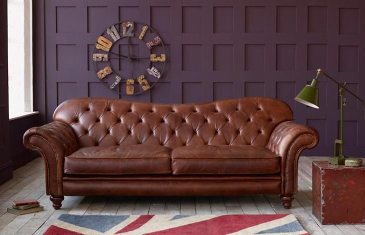 brown leather sofas Arundel Vintage brown leather sofa OHQHKKX
