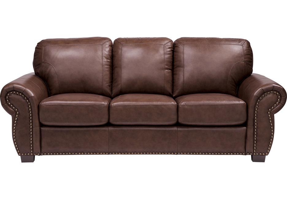 brown leather sofas balencia dark brown leather sofa - leather sofas (brown) RPBZSAI