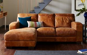 brown leather sofas caesar left-facing rassissofa outback RJOHMRU