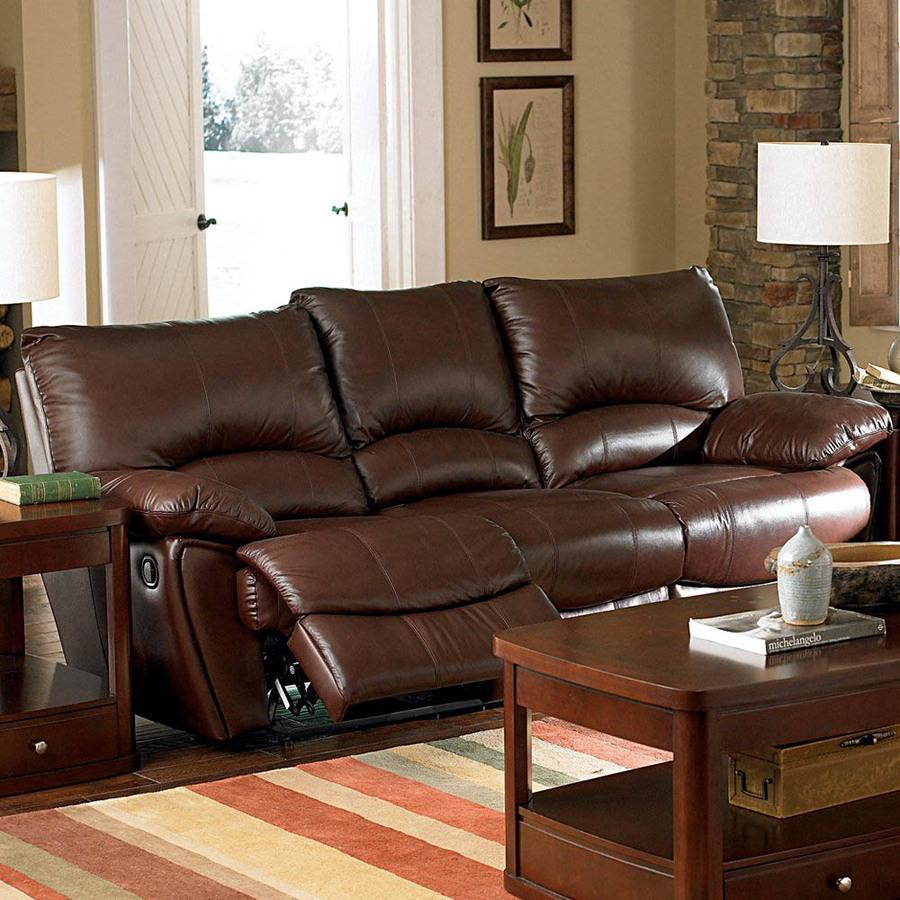 brown leather sofas coasters fine furniture clifford dark brown leather sofa REOVNAH