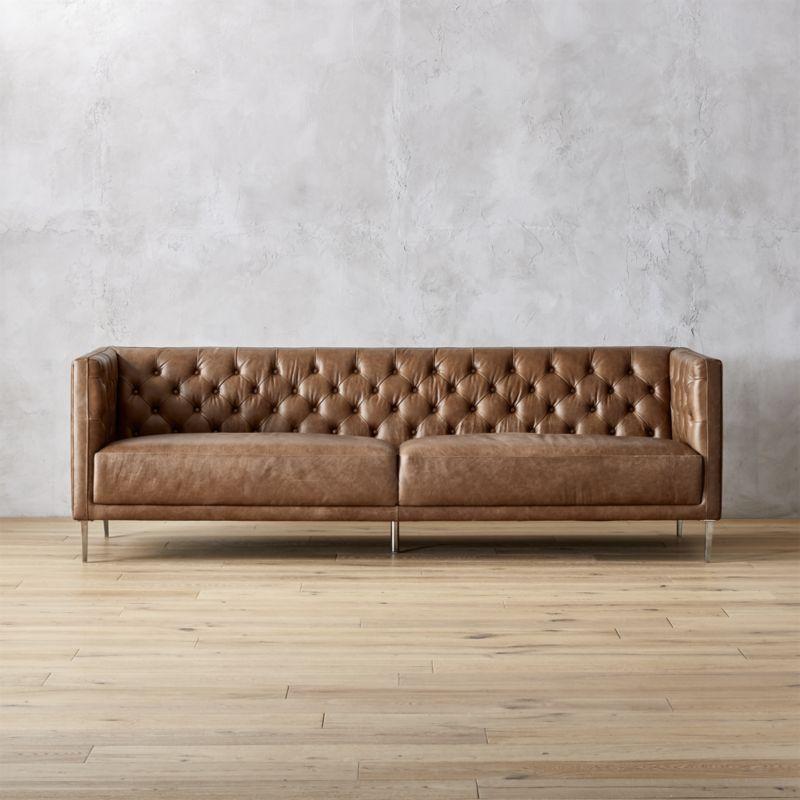 brown leather sofas Savile dark saddle brown leather Kapiton sofa GCASZTY