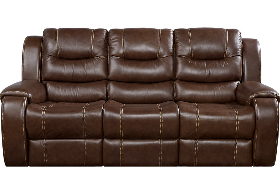 brown leather sofas veneto brown leather sofa bed - leather sofas (brown) OWCOZPS