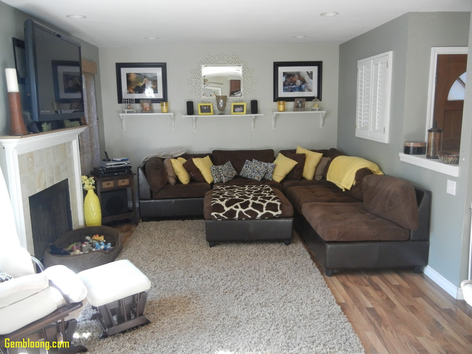 Brown living room ideas awesome gray and brown living room portrait CPACKPT