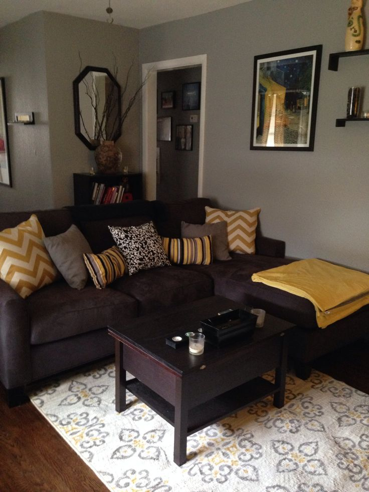 brown living room ideas gray-brown yellow living room - google search ESOXSZF