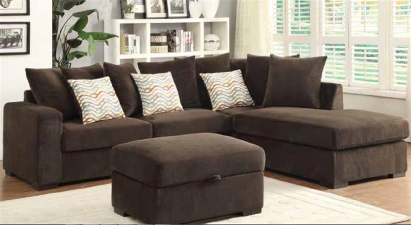 brown microfiber sectional sofa by Coaster - 50044-b VXRAYHY