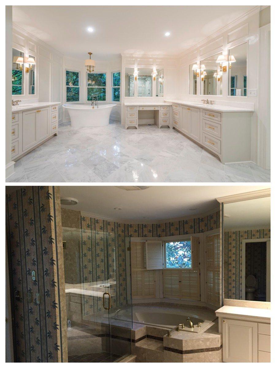 Buckhead house renovation before and after the master bath ... XZDALTO