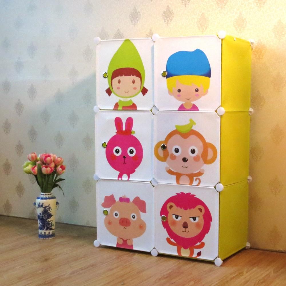 Buddies - storage boxes and wardrobe for children - 6 dice DATPMAV