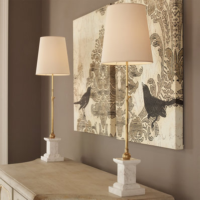 Buffet lamps modern marble base table lamp BQBISKT